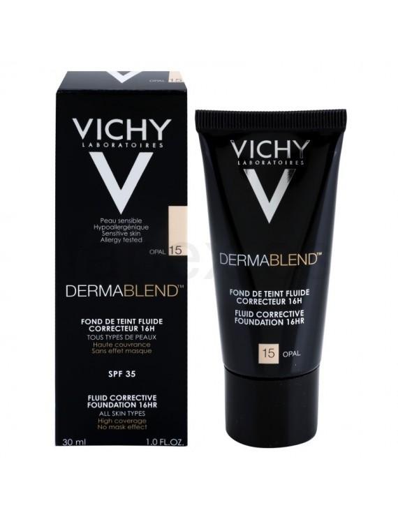 Vichy DERMABLEND Corrective Fluid Foundation 30ml. 16h. - OPAL15